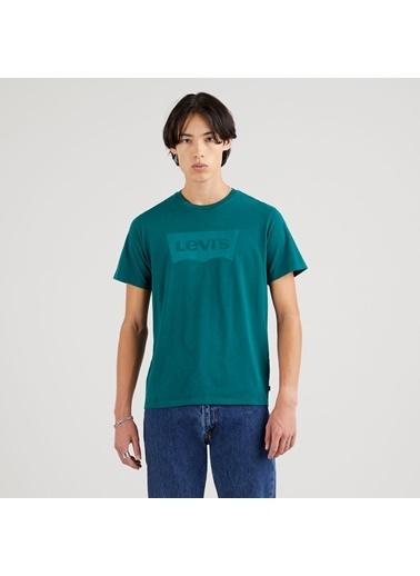 Levi's® 224890325 Ic Bisiklet Yaka Pamuklu Erkek Tişört Yeşil